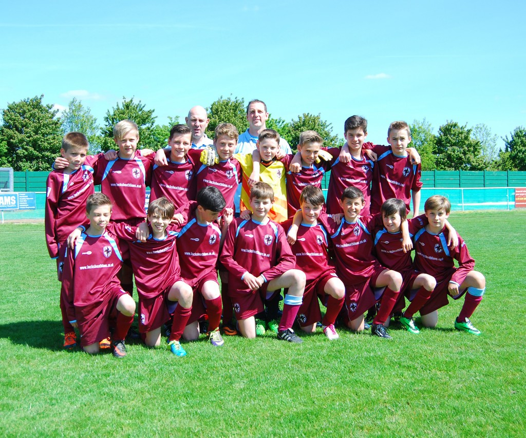 The U12s just before kick off of the League Cup Final played on the 3rd May 2014